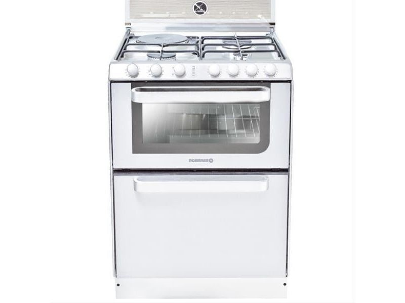 Cuisinière mixte chaleur tournante 40l rosières 60cm a, trm60rb/ng
