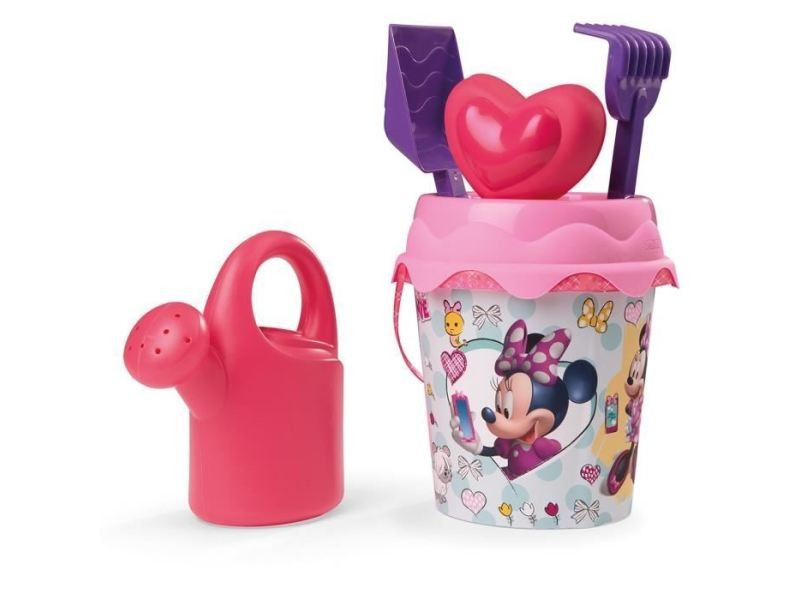 Bac a sable - sac de sable minnie seau garni - disney