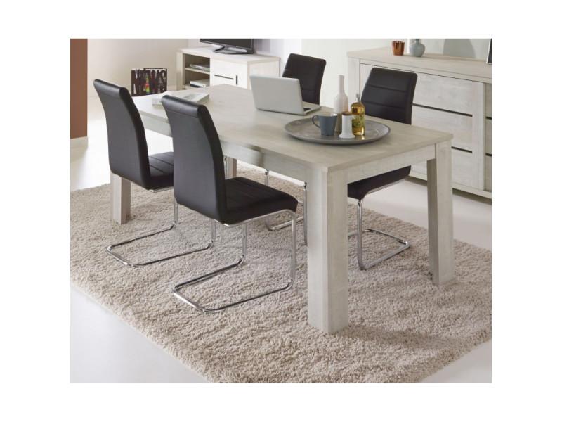 Table de salle à manger contemporaine chêne clair marijo / coloris : / dimensions : table 180 cm