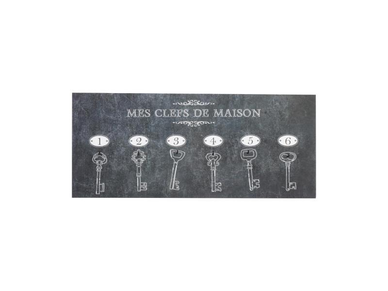 Atmosphera - porte clés mural panneau 6 clés 19 x 44 cm
