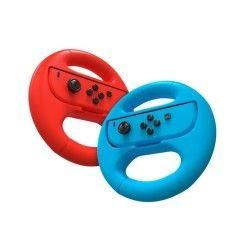 Volant - nintendo switch wheel joy-con- twin pack - bleu / rouge