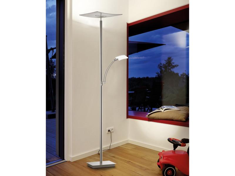 lampadaire liseuse led dimmable moden argent en fer. Black Bedroom Furniture Sets. Home Design Ideas