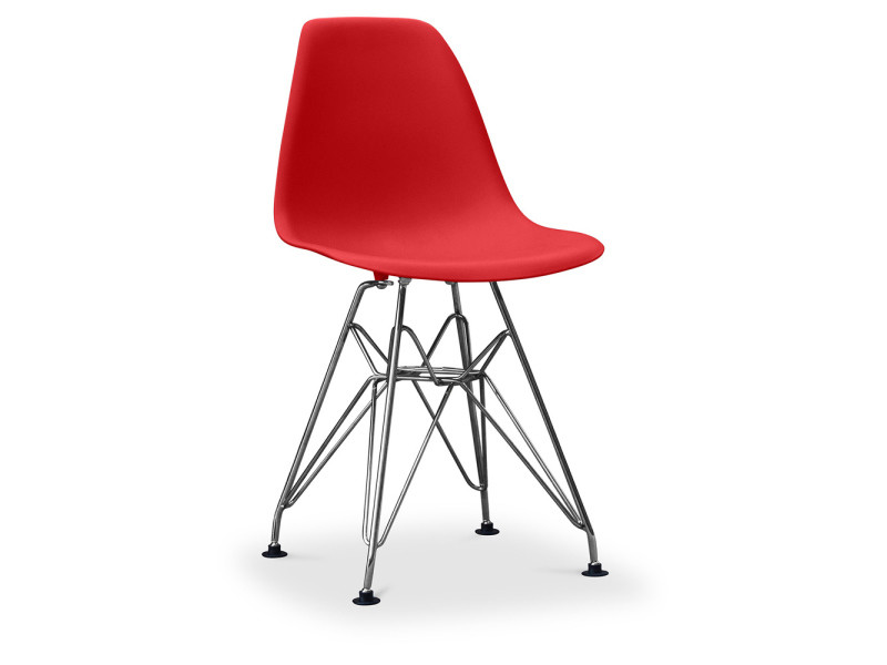 Chaise enfant dsr charles eames - style - rouge