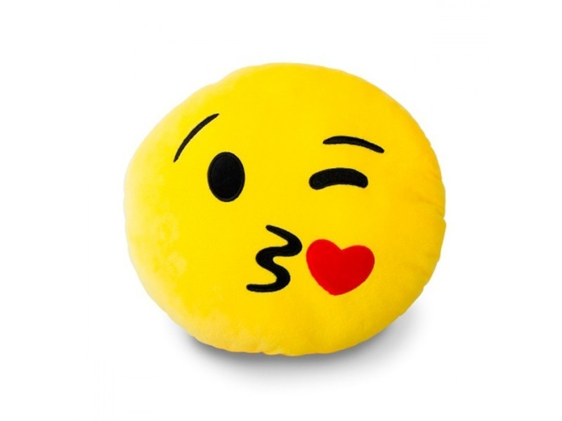Coussin emoticône smiley bisous   Vente de KAS DESIGN   Conforama