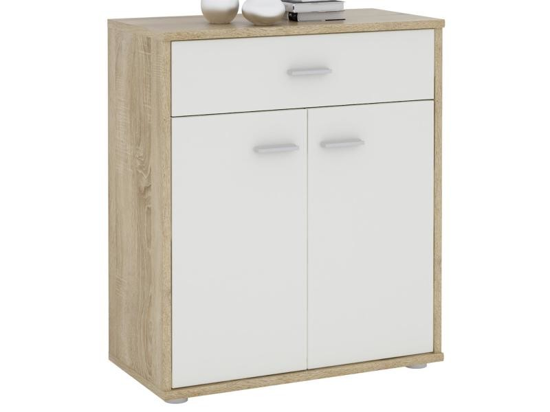 affordable buffet monaco mdf mlamin blanc et chne sonoma with conforama enfilade. Black Bedroom Furniture Sets. Home Design Ideas