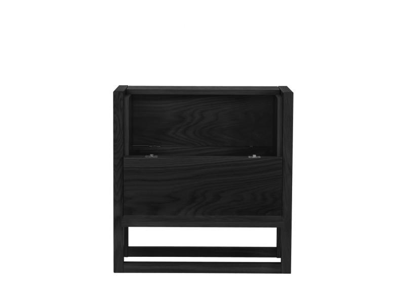 Newest - mini-bar design bois massif - couleur - noir 121226001162