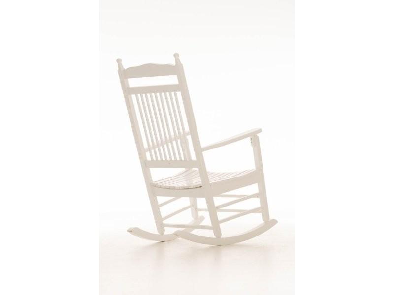 rocking chair fauteuil bascule en bois blanc fab10002 conforama. Black Bedroom Furniture Sets. Home Design Ideas