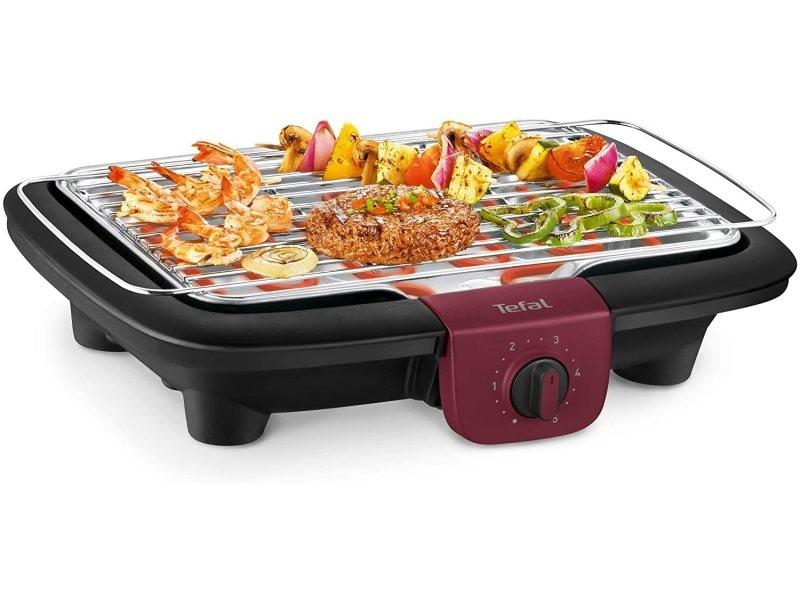 Barbecue électrique avec thermostat réglable 2300w noir