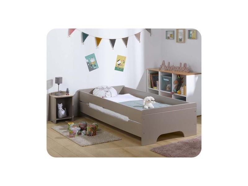 Pack lit enfant teen 90x200 cm avec sommier et matelas - Vente de MA ...