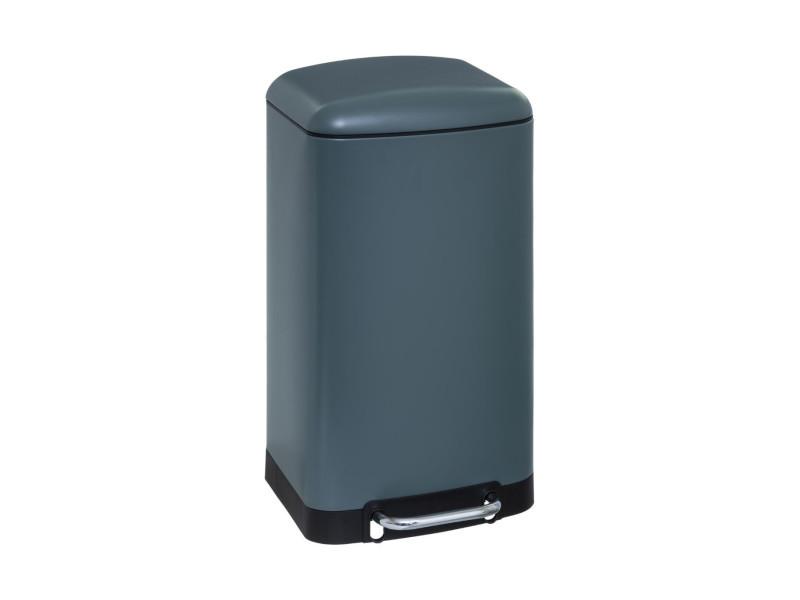 Five - poubelle en métal 30 litres coloris vert ouverture à pédale