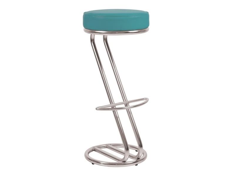 lot de 2 tabourets de bar chaise haute de bar zeta bleu canard vente de sans marque. Black Bedroom Furniture Sets. Home Design Ideas