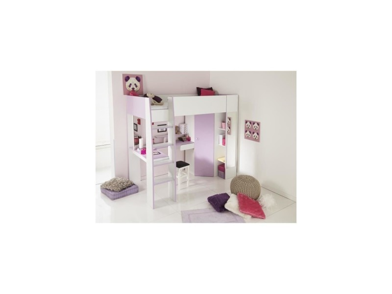 lit combin butterfly 205 x 170 x 120 cm vente de habitat et jardin conforama. Black Bedroom Furniture Sets. Home Design Ideas