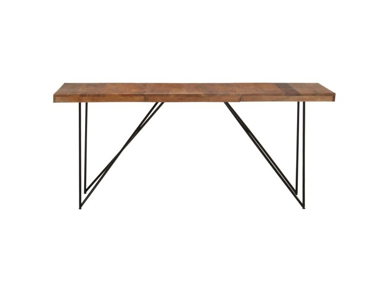 Vidaxl table de salle à manger 180x90x76 cm bois d'acacia massif 282881