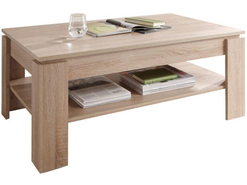 Table Basse Chene Sonoma.Table Basse Design Coloris Chene Sonoma Vente De Comforium