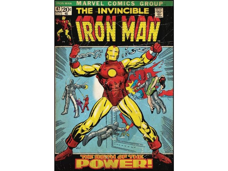 Roommates stickers iron man repositionnables 61x87cm