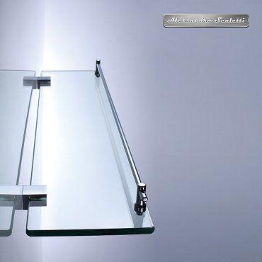 tablette en laiton et verre de salle de bains 52 cm. Black Bedroom Furniture Sets. Home Design Ideas