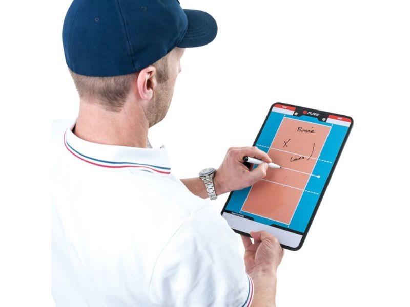 Pure2improve tableau d'entraîneur volley-ball 35x22 cm p2i100690 418654