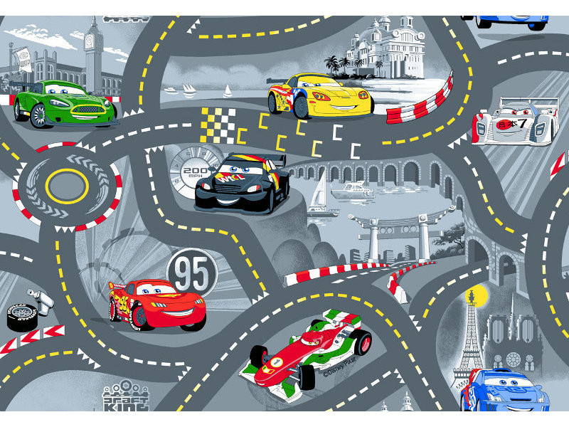 Agreable Tapis Ou Descente De Lit World Of Cars Gris 95 X 133 Cm