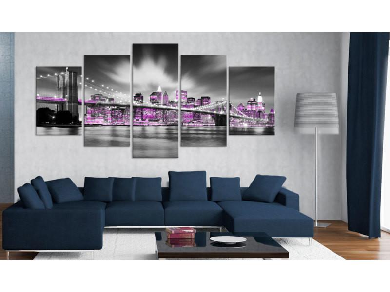 100x50 tableau new york villes stylé amethystine new york