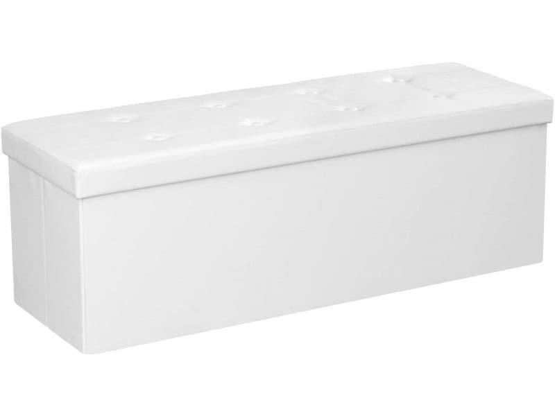 Banc banquette pour coffre de rangement 150 litres blanc helloshop26 12_0000225