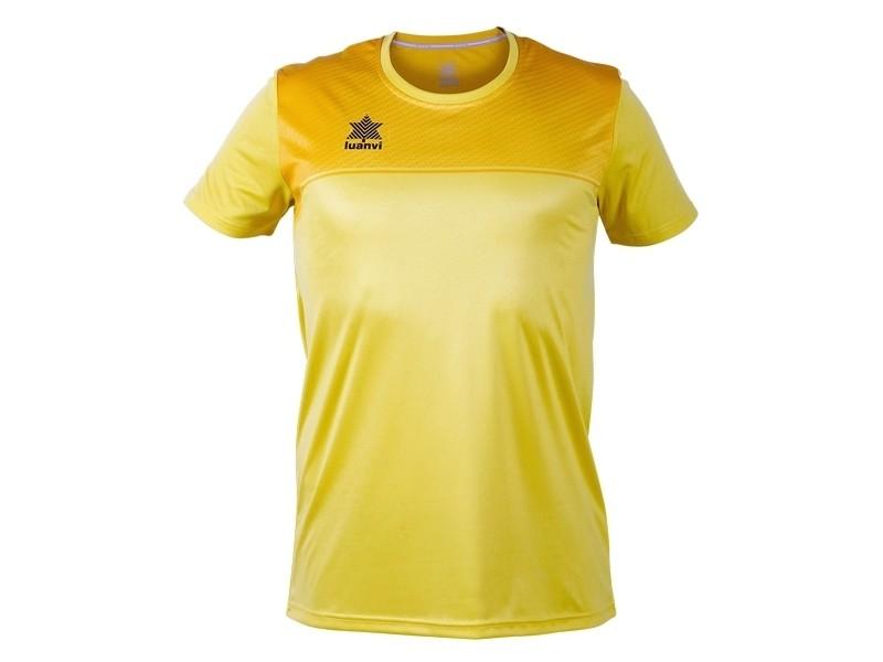 T-shirt de sport stylé taille xxs maillot de corps de sport à manches coupe luanvi apolo jaune