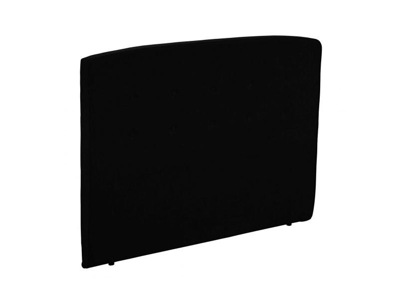 Tête de lit déco capitonnée piqué noir 160 - epeda