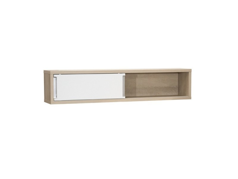 Conforama etagere cube simple tagre murale porte chne for Meuble suspendu porte coulissante