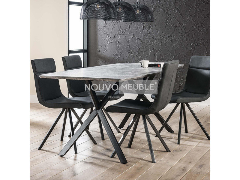 table manger moderne effet b ton nine 2 conforama. Black Bedroom Furniture Sets. Home Design Ideas