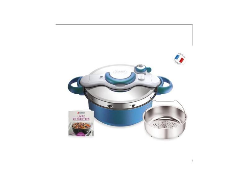 P4705100 autocuiseur cocotte-minute clipsominut' duo - 5l - tous feux dont induction - fabrication française - bleu boréal SEBP4705100