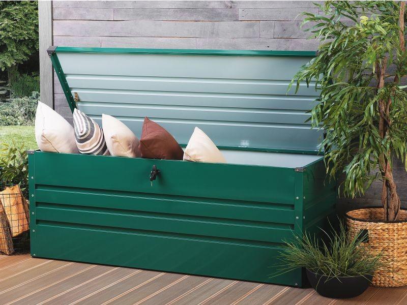 Coffre de rangement vert 165 x 70 cm cebrosa 118806