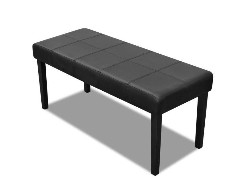 Magnifique bancs collection yamoussoukro banc en cuir synthétique de haute qualité noir