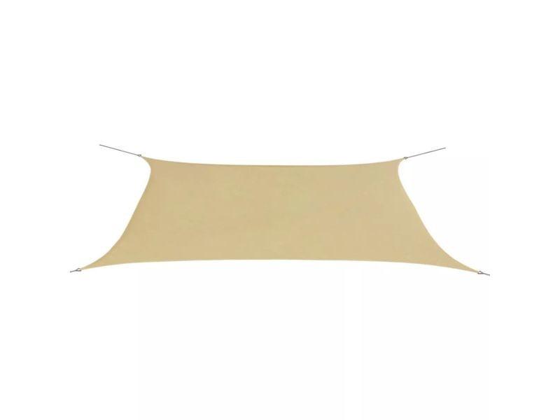 Vidaxl parasol en tissu oxford rectangulaire beige 4x6 m 42294