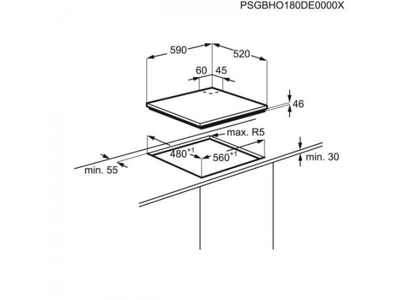 5d9a9d0c94f128 Table de cuisson gaz 59cm 4 feux 8900w noire - kgg6436k kgg6436k ...