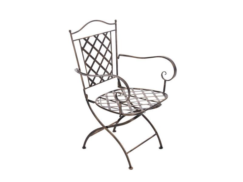 Chaise de jardin adara en fer forgé , bronze