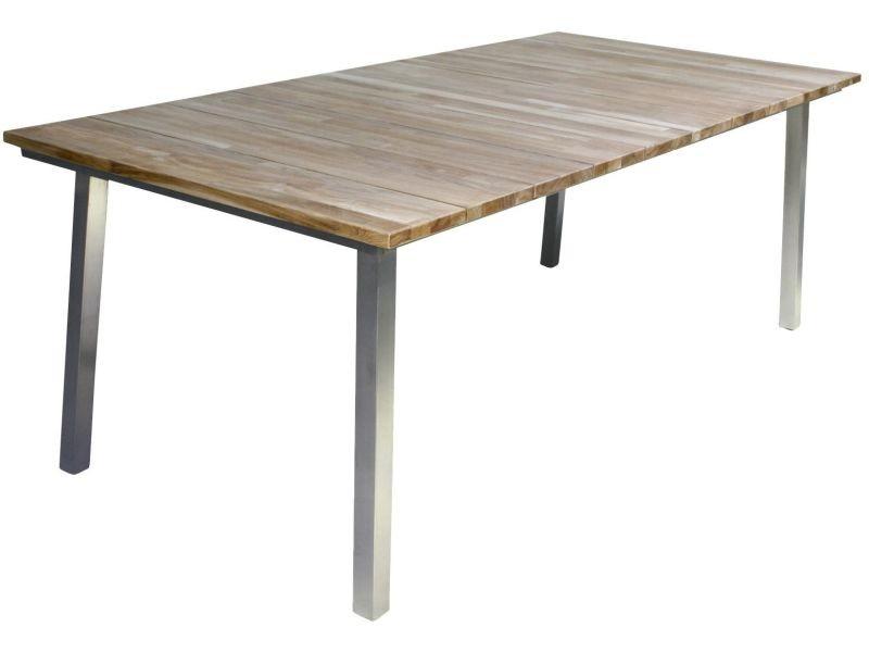 Table de jardin extensible 210-280 cm en teck p-14875-co jardina ...