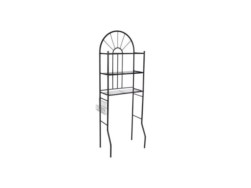 Msk meuble wc en métal noir - l 60 x p 26 x h 173 cm 482115