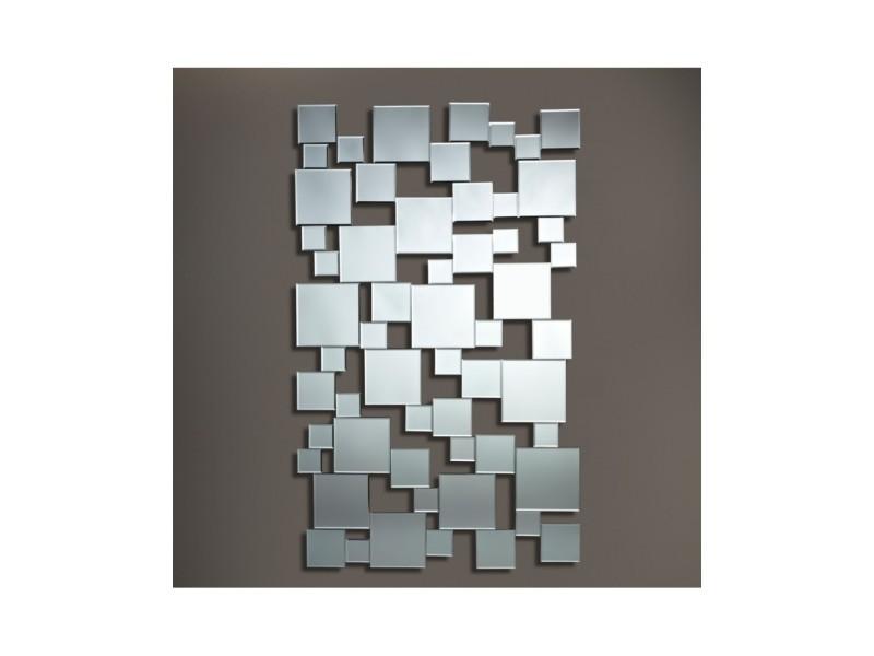 Miroir design pixels moderne contemporain rectangulaire ...