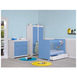 Chambre bébé complète bleu sérénity grain d'orge
