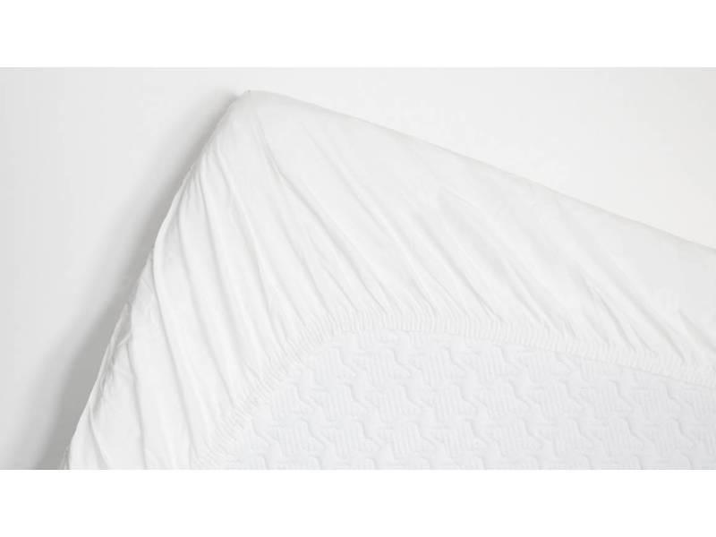 Snoozing - coton - drap-housse - 140x220 cm - blanc SMUL102155812