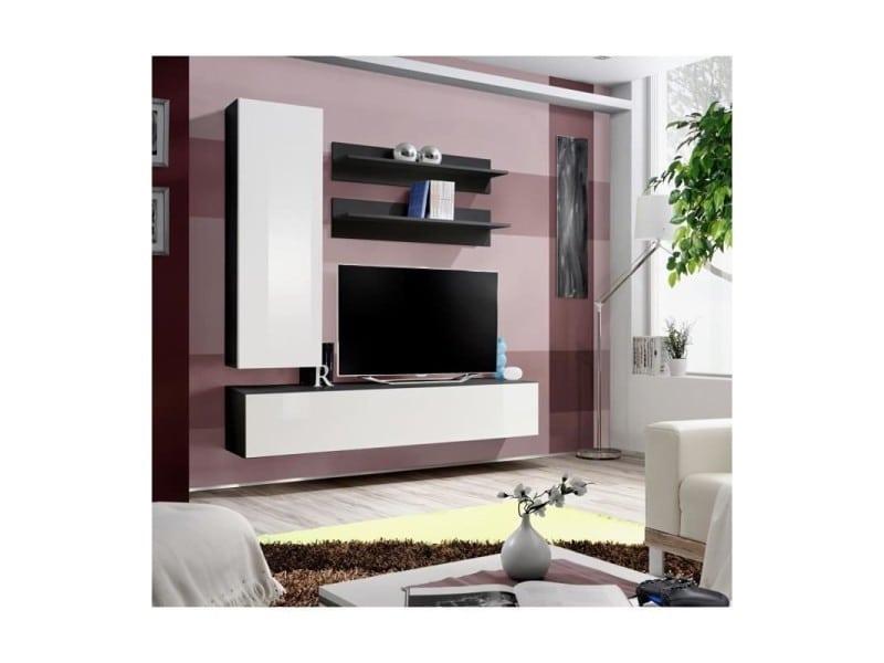 Price Factory Meuble Tv Fly H1 Design Coloris Noir Et