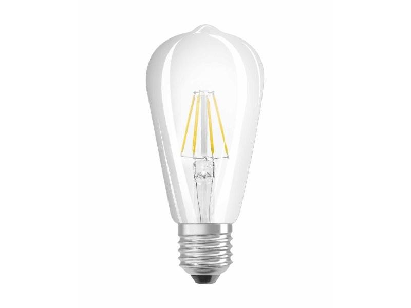 Osram ampoule led filament, forme edison, culot e27, 6w equivalent 60w, 220-240v, claire, blanc chaud 2700k, lot de 1 pièce