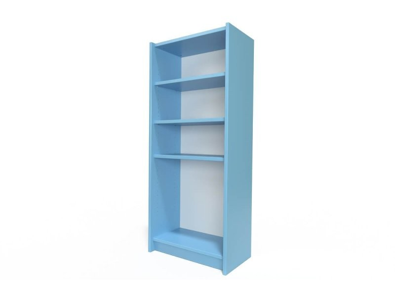 Étagère bibliothèque bois bleu pastel ETABIB-BP