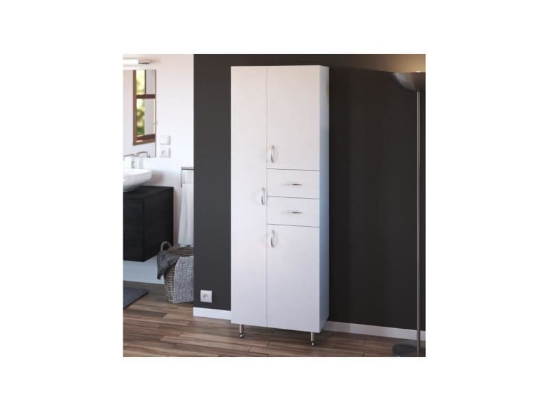 Armando armoire de salle de bain 3 portes - l 60 cm - blanc 202C06099