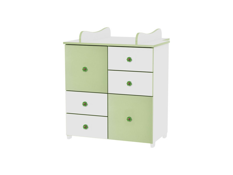 commode de langer pour chambre b b enfant vert. Black Bedroom Furniture Sets. Home Design Ideas