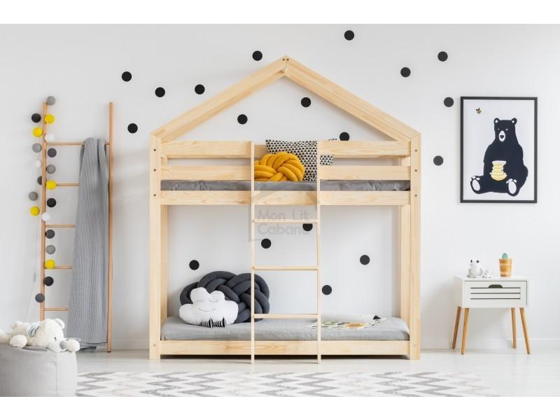 lit superpos g cabane bois massif sommiers 80x190 vente de monlitcabane conforama. Black Bedroom Furniture Sets. Home Design Ideas