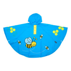 Poncho abeille bleu pour enfant 3 à 6 ans