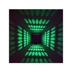 Applique murale cubique avec diffuseur de lumière en aluminium  vert