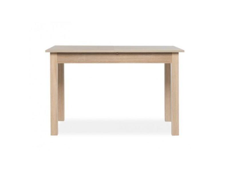 Table a manger seule coburg table a manger extensible de 4 a 8 personnes classique décor chene - l 120-160 x l 70 cm