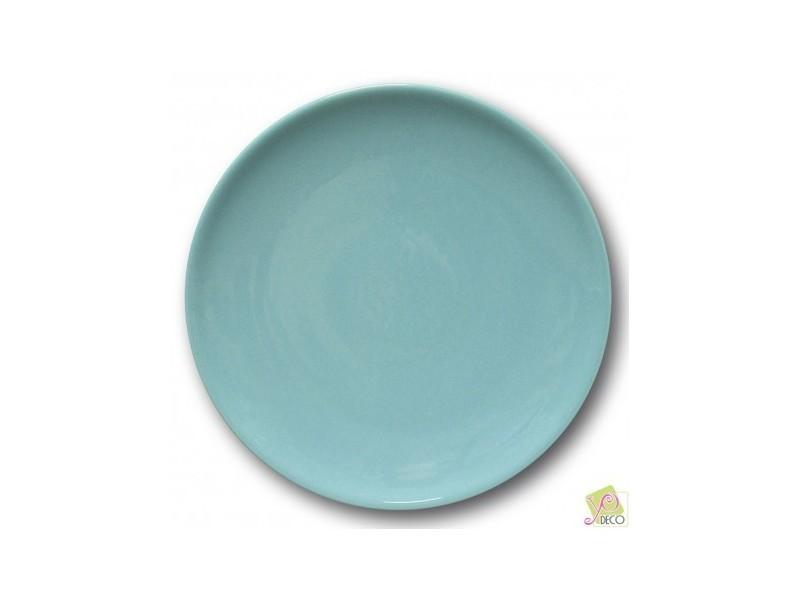 Assiette plate porcelaine bleue- d 26 cm - siviglia