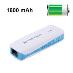 Routeur wifi hotspot 3g portable batterie externe usb 1800 mah bleu